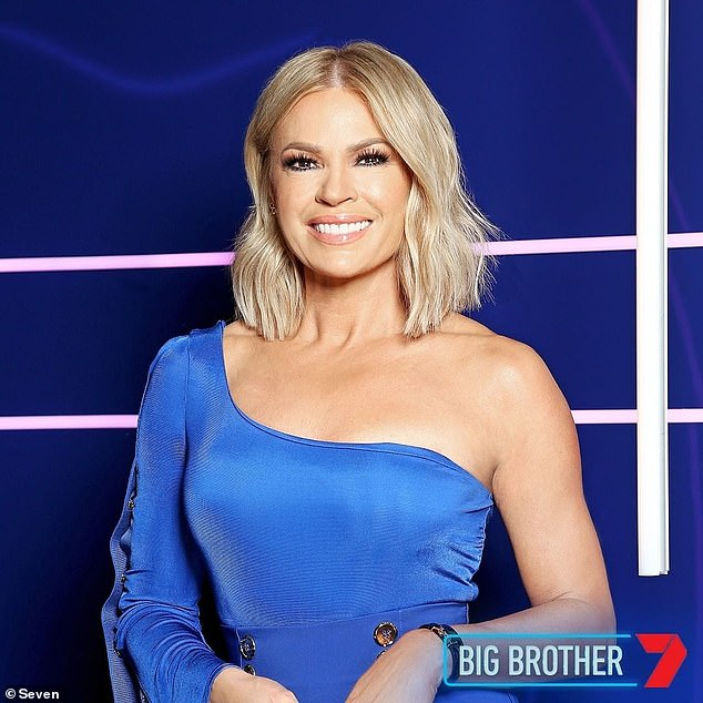Tough situation: However, on Saturday, Sonia and her fellow cast and crew were forced to evacuate the Big Brother house after scheduled hazard reduction burns jumped containment lines on Sydney's North Head