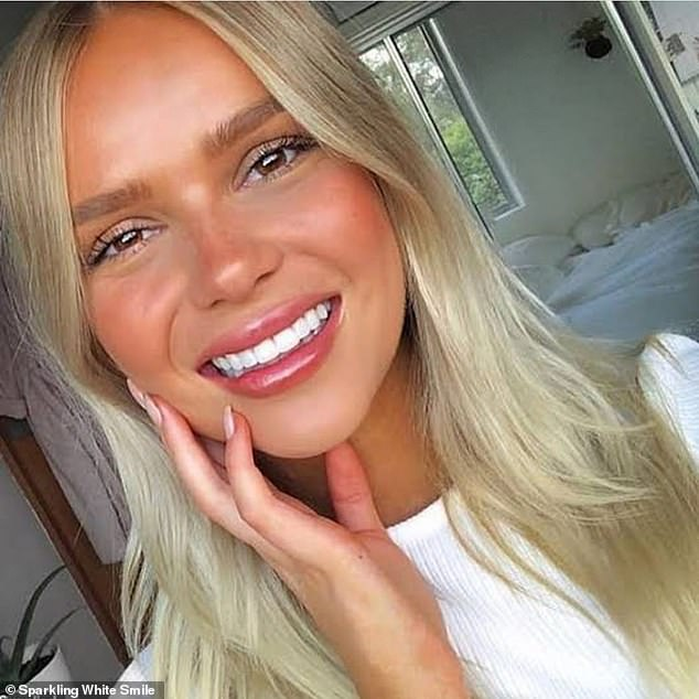 What sets Sparkling White Smile apart is that the whitening can be done from the comfort of people's homes (client's results pictured)