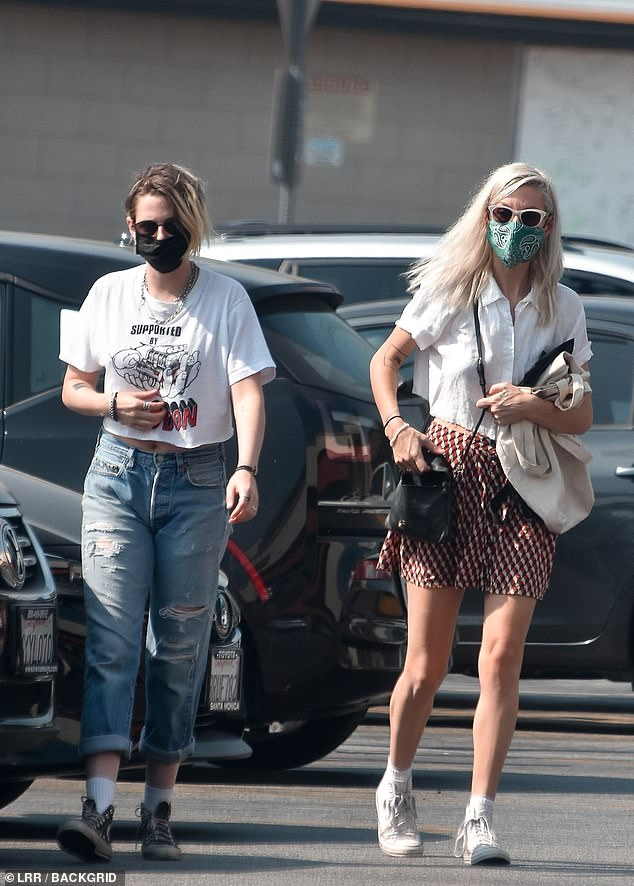 Couple: She was with herwith girlfriend, screenwriter Dylan Meyer