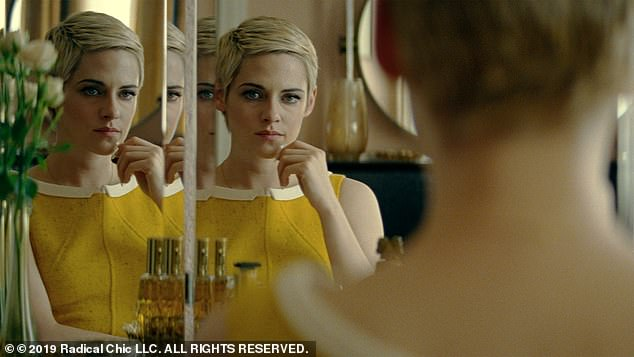Meanwhile on the film front: Stewart is about to take on perhaps her most famous role after portraying other real-life figures such as Jean Seberg (pictured here from the 2019 film)