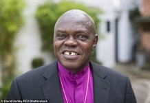 Fury as Britain's first black archbishop John Sentamu is snubbed by Downing Street after he was not awarded automatic life peerage