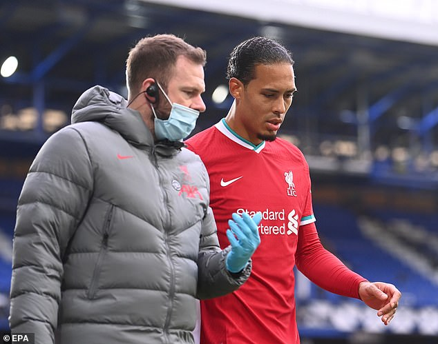 The Liverpool centre back is set to miss a prolonged period following the knock on Saturday