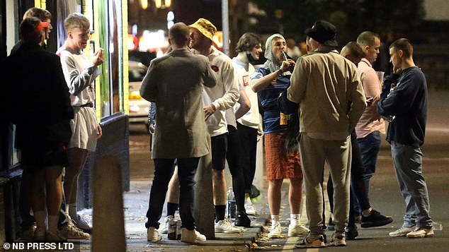 Meanwhile, in Leeds, people were also out on the town last night despite the area being on the brink of a Tier Three lockdown