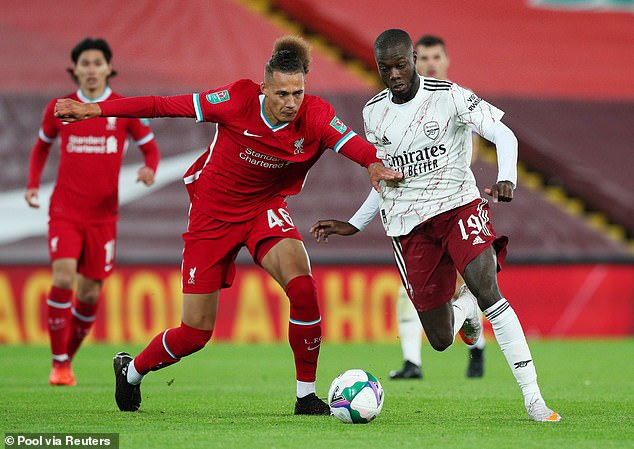 Rhys Williams played against Arsenal in the Carabao Cup and played well alongside Van Dijk