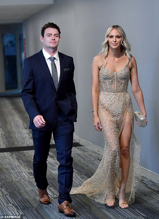 Neale and his wife Julie made a glamorous entrance at the AFL Brownlow Medal ceremony in Brisbane on Sunday