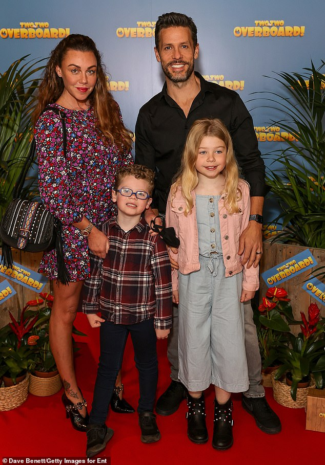 Glam fam:Liberty X singer Michelle Heaton, 41, made an appearance alongside her husband AJ Hanley and their two kids Faith and Hugh