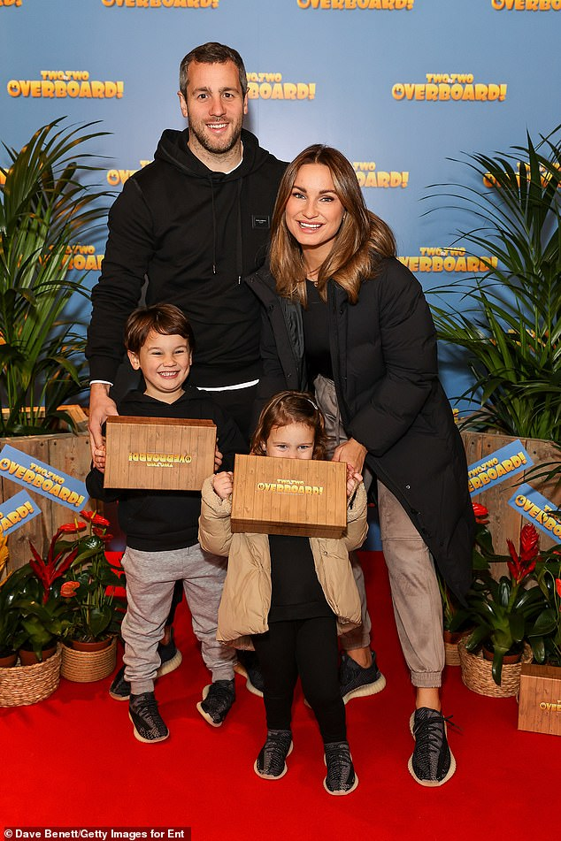 Happy family:Sam was joined by her partner of five years, Paul Knightley, as well as her two children Rosie, two, and Paul Jr., five