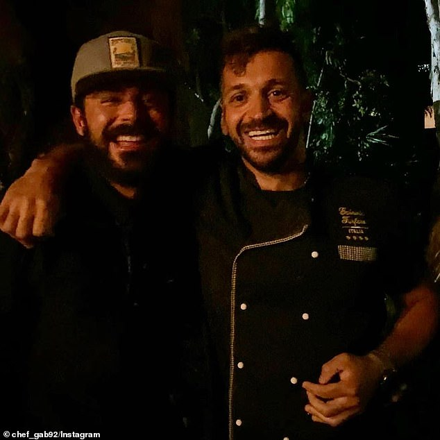 Busy! The sighting comes just one day after the Hollywood heartthrob enjoyed a romantic date with Vanessa at an Italian restaurant. Pictured with chefGabriele Furfaro