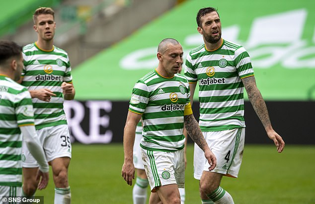 The reigning Scottish champions suffered a 2-0 defeat at home to their city rivals