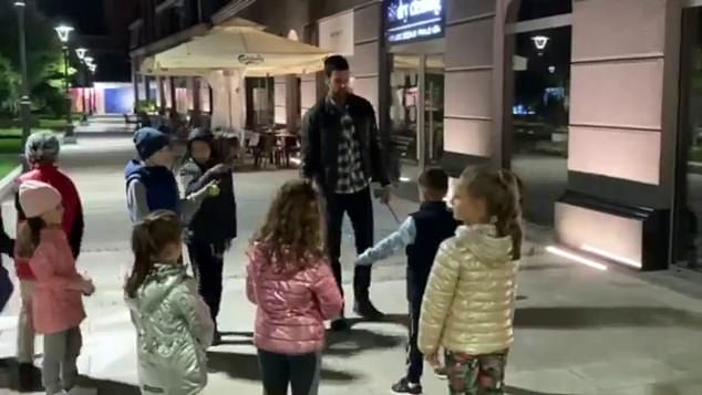 The world number one was mobbed by youngsters in Belgrade in an apparent goodwill gesture