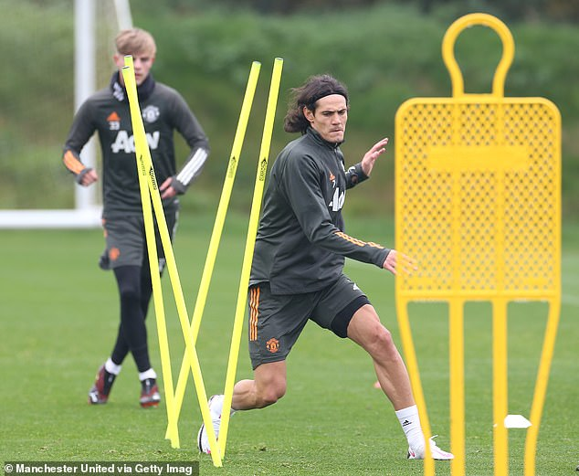 The striker, 33, was pictured undertaking a series of drills with his quarantine period finished