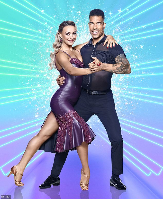 Partnership:The former American football player has been paired with Russian ballroom pro Luba Mushtuk ahead of his appearance on the long-prunning BBC talent show