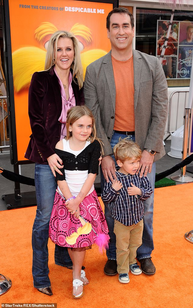Whirlwind romance: The pair, who share their 16-year-old daughter Abigail and 12-year-old son George, first met in 1997, as he was preparing to move to New York City (seen in 2012)