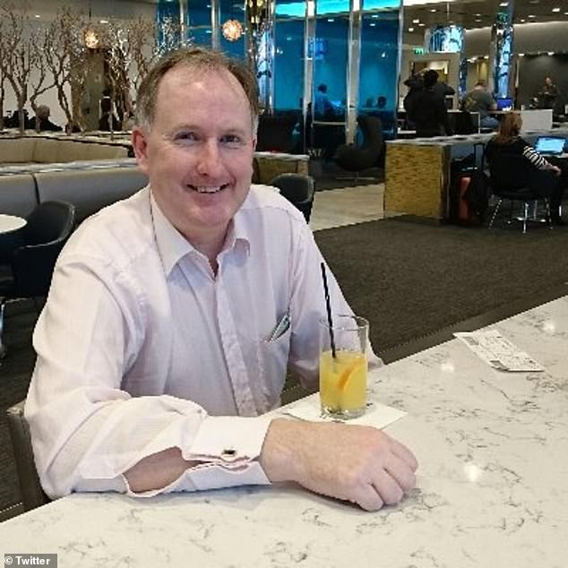 Edmund O'Leary, 51, from Epsom, Surrey, took to Twitter on Friday to candidly admit: 'I am not OK'