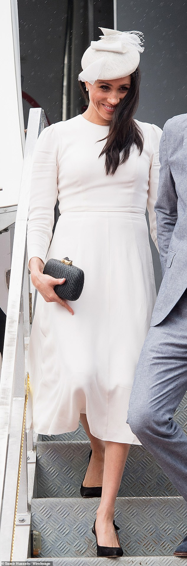 CLUTCHING ON TO TRADITIONAL TECHNIQUES; You can't pack much into one of Meghan's favourite handbags, but what does that matter when there's a global message within? Meghan carried this sleek £172 clutch from California-based brand Kayu to a society wedding in August 2018. Its bags — made from materials including straw, wood and shell — are handmade by all-women co-operatives in the Philippines, Indonesia and Malaysia, using indigenous techniques passed down through generations.