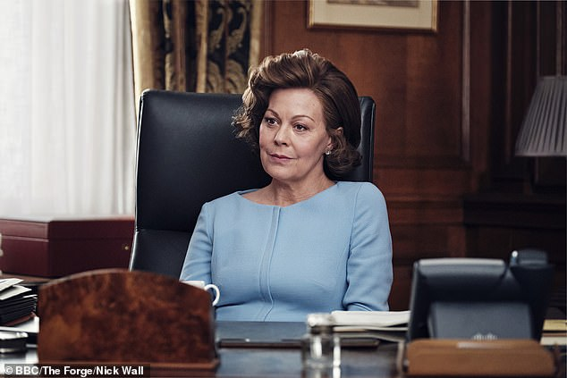 Helen McCrory, pictured, is at her best playing PM Dawn Ellison as part Margaret Thatcher