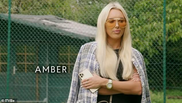 'Petty':Elsewhere, Amber discussed their row with friends Courtney Green and Chloe Meadows as she branded the row 'petty' and 'pathetic'