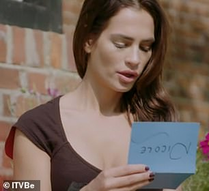 Cute: She added a heartfelt letter
