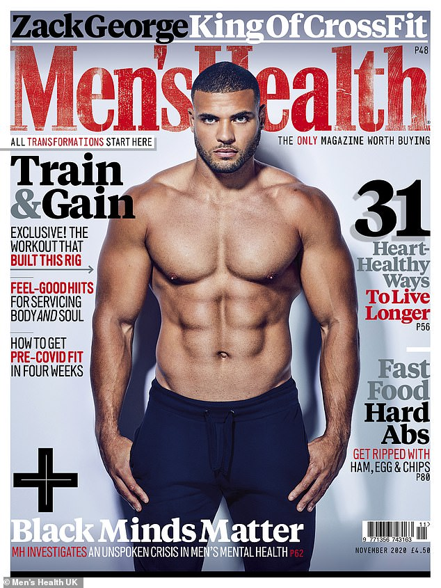 Difficult: David spoke about how he was restrained by police during an interview with Men's Health UK