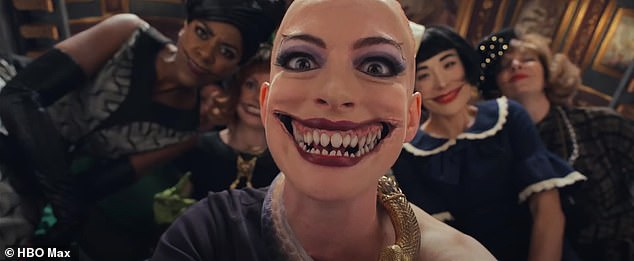 Hathaway added: 'She is such a weirdo - so silly and over the top - and everyone had to work together to be on the same page so it felt big and entertaining but never too much'