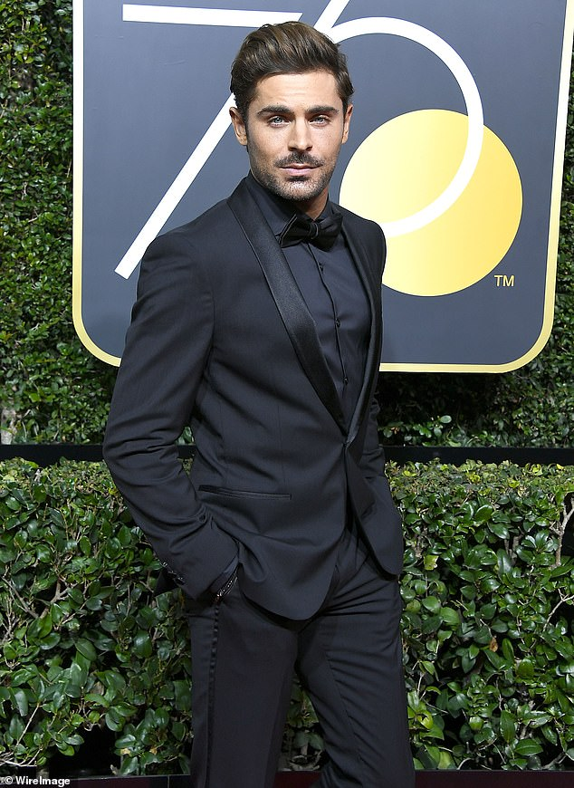 'He didn't want to go back': Zac was first reported to be living in Byron Bay in March, escaping the Covid-19 pandemic in the United States. In August, Daily Mail Australia revealed that he cancelled his scheduled flight to Los Angeles. Pictured at the Golden Globes in 2018