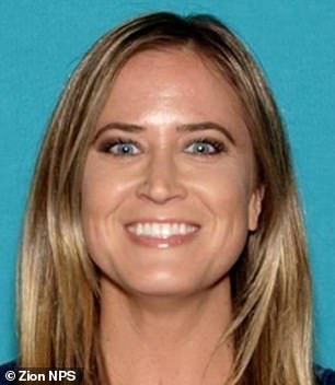 California mother Holly Suzanne Courtier, 38, who went missing on October 6 in Zion National Park in Utah, was found alive on Sunday