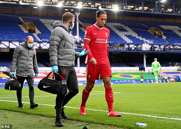 Virgil van Dijk limped off on Saturday, later being diagnosed with an ACL injury ruling him out
