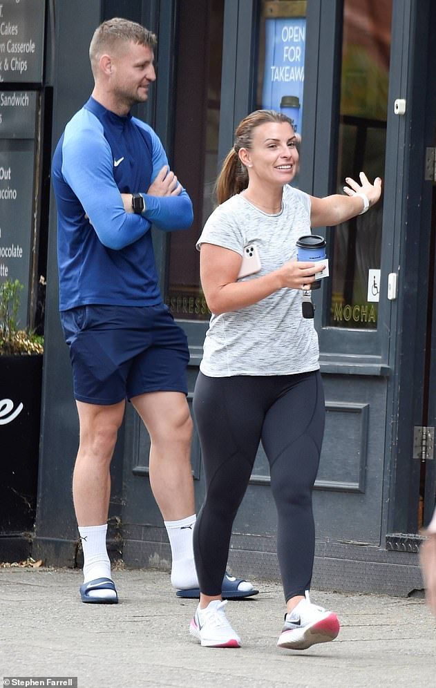 Bardsley, pictured above with Rooney's wife Coleen, went into Roooney's home even though he had been contacted by Test and Trace in the days prior. He has since tested positive for Covid-19, sparking concerns Rooney could have been infected