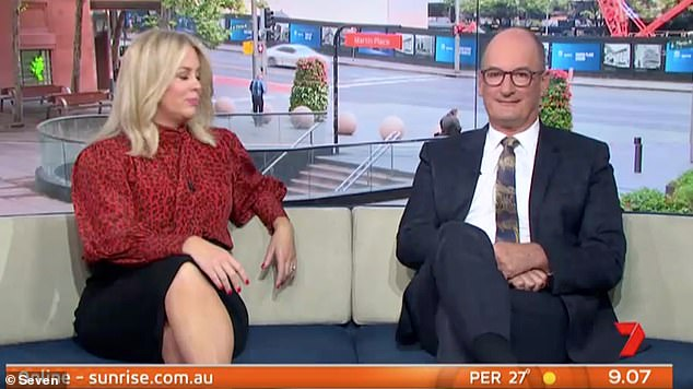 'He was bit of a d*ck': Sunrise host David Koch (right) has called Justin Bieber a 'brat' and a 'd**k' over his behaviour on the show ten years ago
