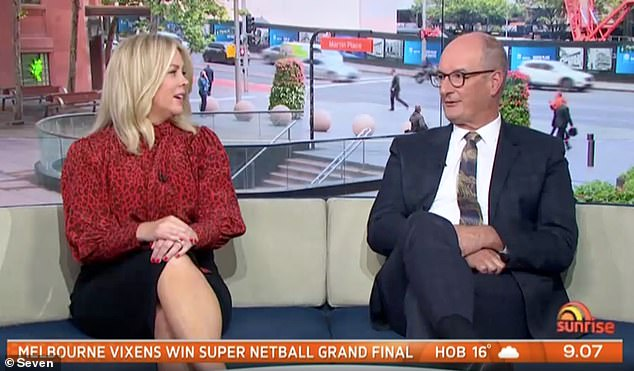 Comments: Kochie said: 'He was bit of a d*ck. Remember when he came into the studio? He was an absolute brat'