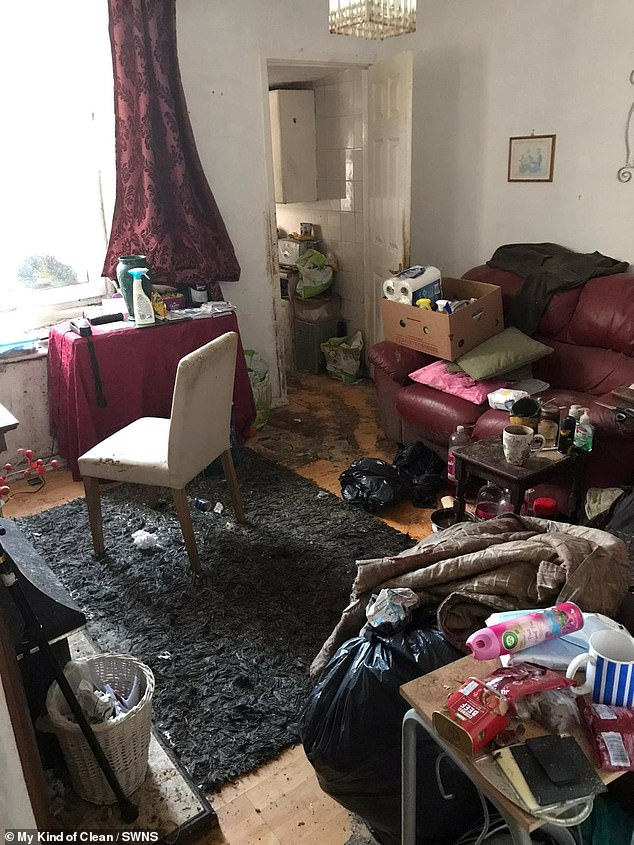 The owner of the two-bedroom property had been hoarding things for years