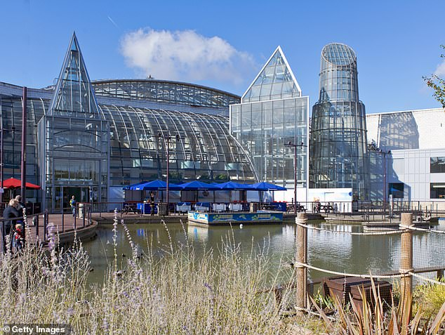Land Securities, which owns the Bluewater shopping centre in Kent (pictured), is selling its retail parks as the Covid-19 crisis pushes more shoppers online