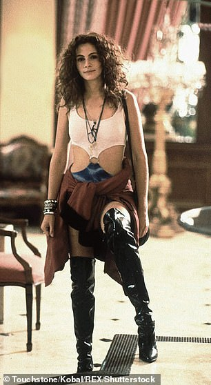 Vintage: A fan is sure to snap up the memorable footwear from Julia Roberts and Richard Gere's iconic film