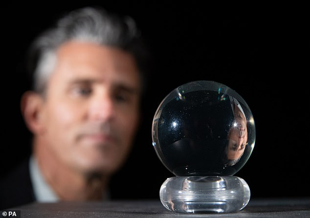 Mysterious: David Bowie's crystal ball from the 1986 classic Labyrinth is to be auctioned for a cool £10-15,000