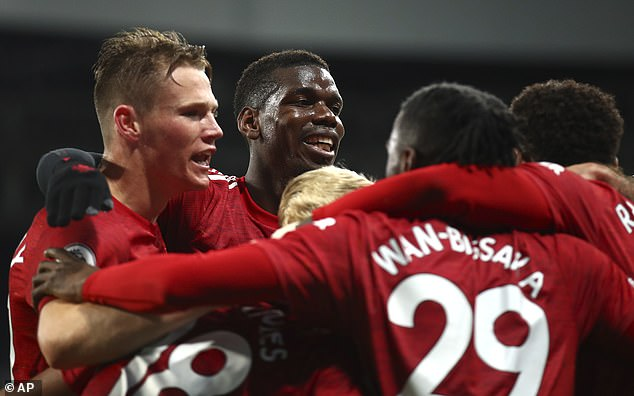 Paul Pogba (centre) is another senior figure being overlooked in favour of Fernandes at PSG