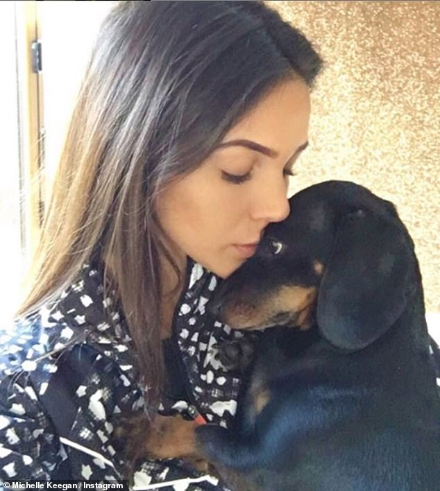 Frightening: Michelle told of her horror after discovering her beloved dachshund Phoebe had eaten a flapjack full of 'toxic raisins' on Monday (pictured with Phoebe)