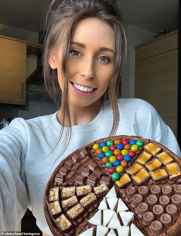 Eloise Head (pictured) built a mammoth Instagram following during lockdown by sharing her simple tricks for making decadent desserts