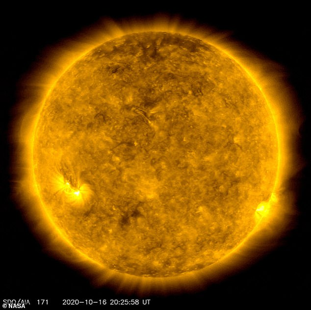 Although the moon interrupted their view, scientists were able to capture images of two regions on the sun that appear to be active due to the start of Solar Cycle 25