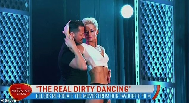 Abs-olutely stunning: The former Today host previously showcased her toned figure when she stripped down for Channel Seven's The Real Dirty Dancing in 2019