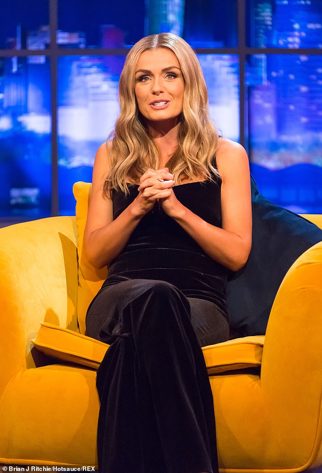 Sharing her experience:Katherine Jenkins opened up on the downtime she's spent with her family during the coronavirus lockdown, as she stated her experience was 'quite full on'