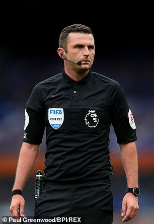 Michael Oliver was the referee on the field for the Merseyside derby