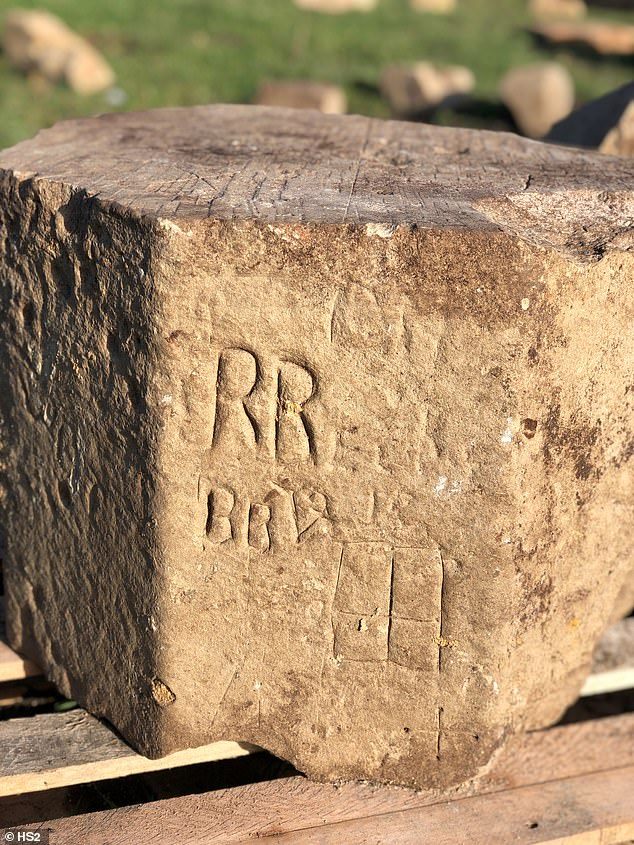 The site is in the middle of the railway project and HS2 archaeologists were clearing it when they stumbled upon the ancient graffiti
