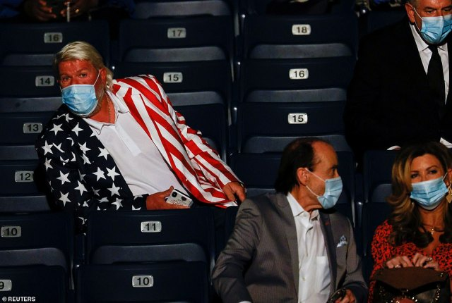 Golfer John Daly looks on before the second 2020 presidential debate