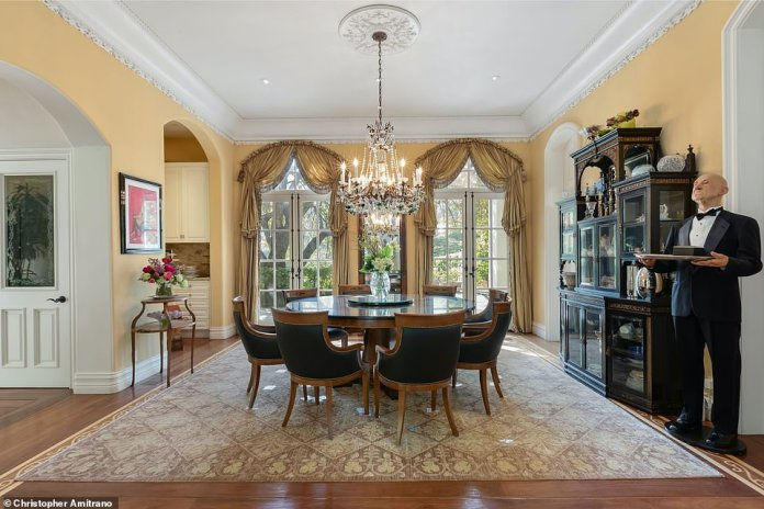 Personal touch: Simmons and his wife Shannon Tweed have remodeled the home from a ranch house to a European-style mansion over the years