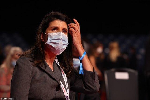Former South Carolina Governor and former Ambassador to United Nations Nikki Haley arrives at the final presidential debate