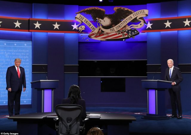 The second presidential debate between Donald Trump and Joe Biden kicked off in Nashville Thursday at Belmont University's Curb Event Center arena with 200 people in the audience