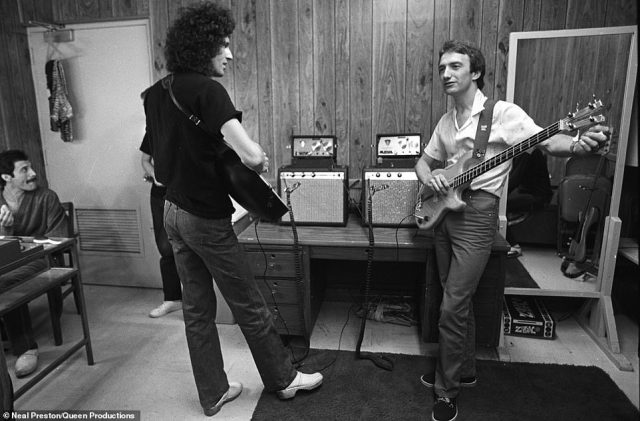 Preston said that all musicians and rock bands are similar in their perfectionism. 'They're never quite happy with a gig, when it's over,' something could always be better. 'I think it's just a musicians DNA to be like that.' But, he said, in his five decade long career - nobody compared to Queen's level, 'I was dealing with four world-class perfectionists. Above, The Game Tour, North America 1980