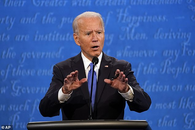 Democratic nominee Joe Biden vowed at the debate Thursday to move away from the oil industry to achieve zero emissions by 2050