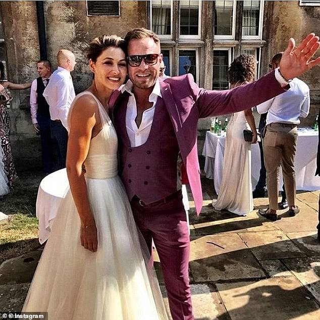 Big day:Matt and Emma tied the knot in 2008 and renewed their vows 10 years later in 2018