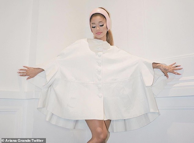 'Tis the season: Ariana celebrated the publicity surrounding her upcoming album release with some gorgeous photos posted Friday to her Instagram